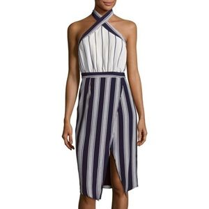 Lovers and friends striped halter dress